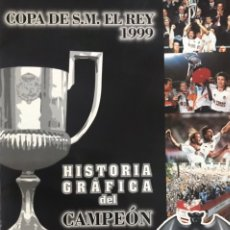 Álbum de fútbol completo: ALBUM CROMOS COMPLETO VALENCIA CLUB FUTBOL CAMPEON COPA DEL REY 1999 HISTORIA GRAFICA SUPER DEPORTE. Lote 260710405