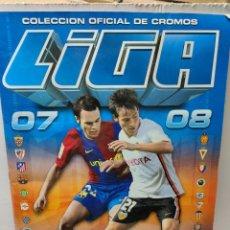 Álbum de fútbol completo: ÁLBUM CASI COMPLETO LIGA 2007/08 COLECCIONES ESTE CON MESSI Y OTROS DIFÍCILES. Lote 262132800