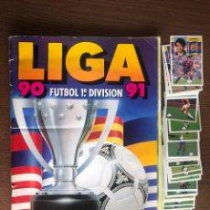 Álbum de fútbol completo: ALBUM LIGA ESTE FUTBOL 90-91 COMPLETO CON 48 DOBLES SUELTOS 1990-1991 FALTAN 28 PARA TODO LO EDITADO. Lote 262424990