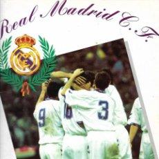 Álbum de fútbol completo: ÁLBUM DE FÚTBOL Y BALONCESTO REAL MADRID 1994-95. Lote 265770804