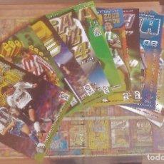Álbum de fútbol completo: LOTE COLECCIONES COMPLETAS 2000-01 HASTA 2009-10 SIN PEGAR. Lote 265779479