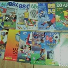 Álbum de fútbol completo: EXCELENTE LOTE MUNDIALES/EUROCOPAS 1982-2016 SIN PEGAR. Lote 265780164