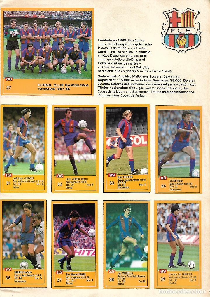 Álbum de fútbol completo: ALBUM COMPLETO DE LOS ASES DE LA LIGA 87/88 - Foto 4 - 46080579