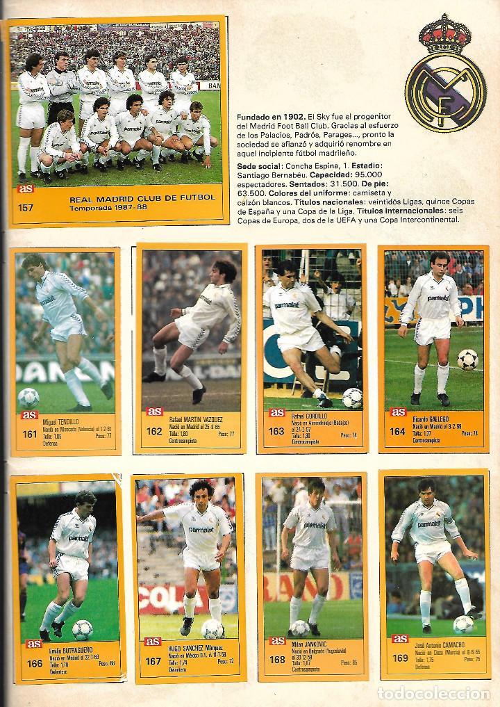 Álbum de fútbol completo: ALBUM COMPLETO DE LOS ASES DE LA LIGA 87/88 - Foto 5 - 46080579