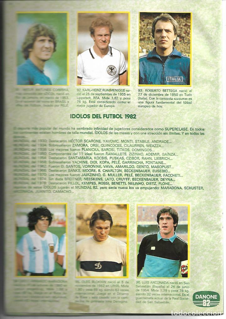 Álbum de fútbol completo: FÚTBOL EN ACCIÓN DANONE ESPAÑA 82 BUEN ESTADO 1982 COMPLETO BUEN ESTADO - Foto 4 - 221952815