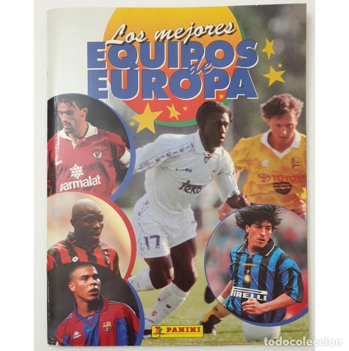 ALBUM CROMOS PANINI 1996-1997 LOS MEJORES EQUIPOS DE EUROPA 96-97 COMPLETO BUEN ESTADO (Coleccionismo Deportivo - Álbumes y Cromos de Deportes - Álbumes de Fútbol Completos)