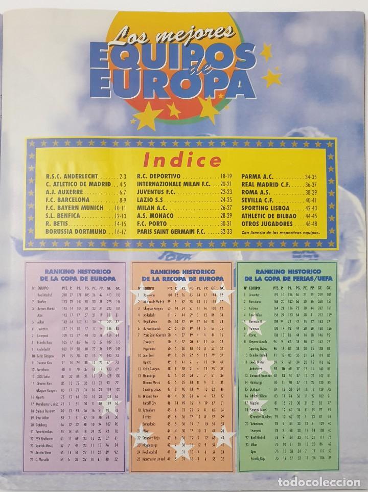 Álbum de fútbol completo: ALBUM CROMOS PANINI 1996-1997 LOS MEJORES EQUIPOS DE EUROPA 96-97 COMPLETO BUEN ESTADO - Foto 2 - 270146268