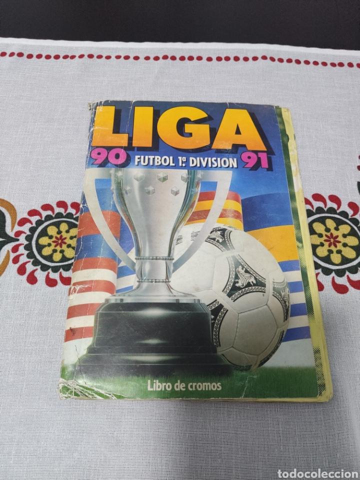 ÁLBUM ESTE 90 91 COMPLETO (A FALTA DEL FICHAJE 29) (Coleccionismo Deportivo - Álbumes y Cromos de Deportes - Álbumes de Fútbol Completos)