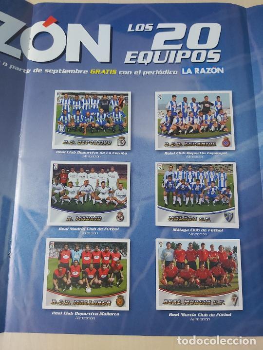 Álbum de fútbol completo: 20 ALINEACIONES LA RAZON LIGA ESTE 2003/2004 03/04 COMPLETO - Foto 3 - 270209088