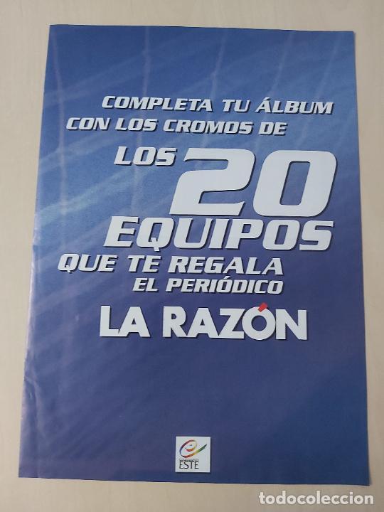 20 ALINEACIONES LA RAZON LIGA ESTE 2003/2004 03/04 COMPLETO (Coleccionismo Deportivo - Álbumes y Cromos de Deportes - Álbumes de Fútbol Completos)