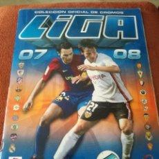 Álbum de fútbol completo: ALBUM CROMOS LIGA 07/08. Lote 270227303
