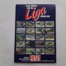 Álbum de fútbol completo: ANTIGUO ALBUM COMPLETO CROMOS FUTBOL LOS ASES LIGA 1989 90 AS 1990 MUY BUEN ESTADO SAN MAMES ATOCHA. Lote 272217493