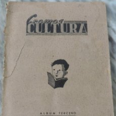 Álbum de fútbol completo: ÁLBUM TERCERO CROMOS CULTURA (FUTBOL - DEPORTES) - EDITORIAL EL GATO NEGRO - AÑO 1939 - COMPLETO, LE. Lote 272572973