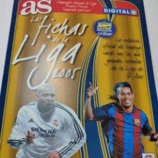 Álbum de fútbol completo: ALBUM LAS FICHAS DE LA LIGA-AS-TEMPORADA 2005 CON 246 FICHAS 100 BRILLO RONALDO,RAÚL, RONALDINHO ETC. Lote 273446343