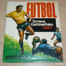 Álbum de fútbol completo: ALBUM DE CROMOS COMPLETO Y ORIGINAL FUTBOL TORNEOS CONTINENTALES 1967 RUIZ ROMERO LIGA 1ªDIVISION. Lote 273526163