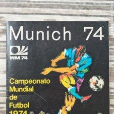 """Álbum de fútbol completo: ALBUM DE CROMOS CAMPEONATO MUNDIAL DE FUTBOL """"MUNICH 74"""" COMPLETO.. Lote 275215778"""