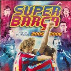 Álbum de fútbol completo: ALBUM DE CROMOS COMPLETO - SUPER BARÇA 2005 2006 - 05 06 - MESSI - PANINI -. Lote 275477373