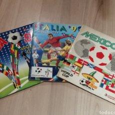 Álbum de fútbol completo: ESPECTACULAR LOTE DE TRES ALBUMES FUTBOL MUNDIALES MEXICO 86 ITALIA 90 Y USA 94 COMPLETOS PANINI. Lote 277034578