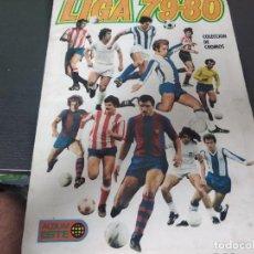 Álbum de fútbol completo: ALBUM ESTE 79/80 A FALTA DE DOS CROMOS.TODOS PEGADOS POR FILO SUPERIOR. Lote 277157538