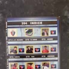 Álbum de fútbol completo: N° 294 ÍNDICE OSASUNA MUNDICROMO 2003/2004. Lote 277163538