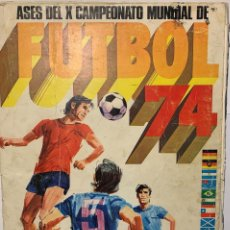 Álbum de fútbol completo: ASES DE X CAMPEONATO DEL MUNDIAL DE FUTBOL 74 COMPLETO. Lote 277185683