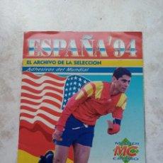 Álbum de fútbol completo: ÁLBUM CROMOS COMPLETO!!! FÚTBOL ESPAÑA 1994 EL ARCHIVO DE LA SELECCIÓN MUNDIAL USA 94. MUNDICROMO M. Lote 277636703
