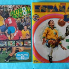 Álbum de fútbol completo: GRAN LOTE ALBUM ESPAÑA 82 FHER+ DANONE FÚTBOL EN ACCIÓN COMPLETOS Y EXCELENTES. Lote 277709693
