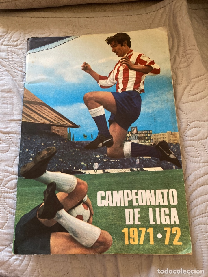 ÁLBUM DE CROMOS TEMPORADA 71/72, A FALTA DE 3 CROMOS, EN PERFECTO ESTADO (Coleccionismo Deportivo - Álbumes y Cromos de Deportes - Álbumes de Fútbol Completos)