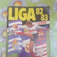 Álbum de fútbol completo: ALBUM ESTE 82/83 COMPLETO UN CROMO POR CASILLA PEGADOS EN VENTANILLA SEÑALES DE USO VER FOTOS. Lote 278368248