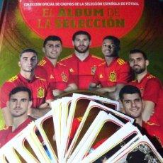 Álbum de fútbol completo: COLECCIÓN COMPLETA 84 CROMOS + ÁLBUM + REGALO FÚTBOL SELECCIÓN ESPAÑOLA EURO 2020 2021. PANINI LUJO. Lote 282908188