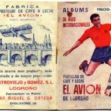 Album de football complet: ALBUM ASES INTERNACIONALES,1949,DE PRODUCTOS EL AVION.LOGROÑO,FALTA LA ESTAMPA REGALO,. Lote 284714948