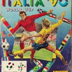 Album de football complet: ALBUM DE CROMOS COMPLETO - ITALIA 90 - PANINI -. Lote 286066318