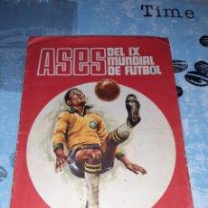 Álbum de fútbol completo: ASES DEL IX MUNDIAL DE FUTBOL, MEXICO JUNIO 1970, DISGRA. Lote 286351843