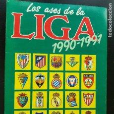 Album de football complet: ÁLBUM CROMOS FÚTBOL LOS ASES DE LA LIGA 1990-1991 100% COMPLETO DIARIO AS 90-91. Lote 287023718