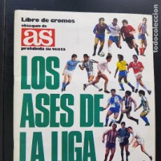 Album de football complet: ÁLBUM CROMOS FÚTBOL LOS ASES DE LA LIGA 1987-1988 100% COMPLETO DIARIO AS 87-88. Lote 287025053