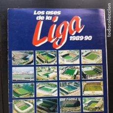 Album de football complet: ÁLBUM CROMOS FÚTBOL LOS ASES DE LA LIGA 1989-1990 100% COMPLETO DIARIO AS 89-90. Lote 287025818