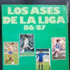Album de football complet: ÁLBUM CROMOS FÚTBOL LOS ASES DE LA LIGA 1986-1987 100% COMPLETO DIARIO AS 86-87. Lote 287026853