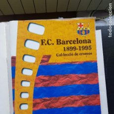 Album de football complet: ÁLBUM CROMOS FÚTBOL F.C. BARCELONA 1899-1995 100% COMPLETO PLÁ DE LLACS VOL. 1 Y 2. Lote 287028533