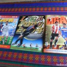 Álbum de fútbol completo: ESTE LIGA 2008 2009 COMPLETO Y ESTE LIGA 2003 2004 INCOMPLETO. REGALO 2017 2018 VACÍO.. Lote 287447368