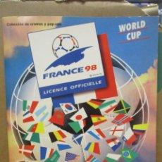 Album de football complet: ALBUM CROMOS - FRANCIA / FRANCE 98 - WORLD CUP - MUNDIAL - PANINI - COMPLETO - NO IRAN. Lote 287550088