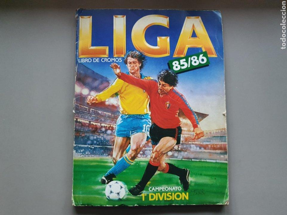ALBUM COMPLETO LIGA ESTE 85 86 1985 1986 CON MUCHISIMOS DOBLES SIN PEGAR CRISTOBAL Y PETURSSON (Coleccionismo Deportivo - Álbumes y Cromos de Deportes - Álbumes de Fútbol Completos)