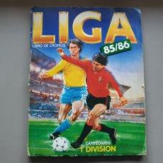 Álbum de fútbol completo: ALBUM COMPLETO LIGA ESTE 85 86 1985 1986 CON MUCHISIMOS DOBLES SIN PEGAR CRISTOBAL Y PETURSSON. Lote 287951528
