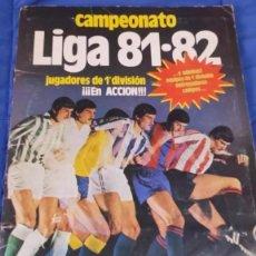 Álbum de fútbol completo: ALBUM COMPLETO DE CROMOS FUTBOL 1981 - 1982 EDICIONES ESTE 81/82 COMPLETO CON COLOCAS DIFICILES. Lote 290911563