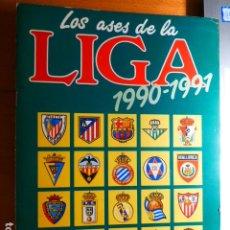 Álbum de fútbol completo: ASES DE LA LIGA 1990 1991 ALBUM COMPLETO IMPECABLE ESTADO. Lote 291549183