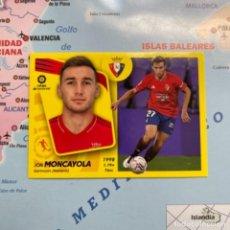 Álbum de fútbol completo: MONCAYOLA NÚMERO 14 DE OSASUNA CROMO LIGA ESTE 21-22 2021-2022. Lote 294033948