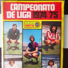 Álbum de fútbol completo: ALBUM FUTBOL CAMPEONATO DE LIGA ESTE 1974 1975 CHICLE SANBER 74 75 CON 340 CROMOS (36 SIN PEGAR). Lote 294046228