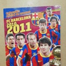 Álbum de fútbol completo: ALBUM DE CROMOS FC BARCELONA 2010 2011. Lote 295859463