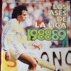 Coleccionismo deportivo: ALBUM DE CROMOS INCOMPLETO LOS ASES DE LA LIGA 1988-89 FALTAN 8 CROMOS. Lote 27209201