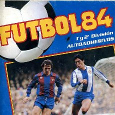 ALBUM FUTBOL 84 , PANINI , CASI VACIO, SOLO 4 CROMOS. INCOMPLETO,