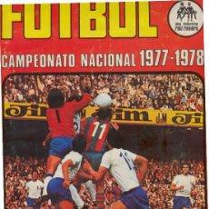 Coleccionismo deportivo: (AL-660)ALBUM FUTBOL CAMPEONATO NACIONAL 1977-78. Lote 9332270